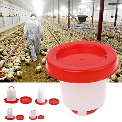 Mangiatoia automatica per pollame da 1,5 l e abbeveratoio da 6/3/1,5 l