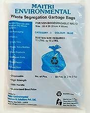 Dry Waste Garbage Bags (Blue) (20X26) (100 PCS)