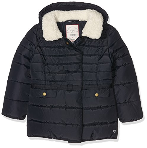 TOM TAILOR Kids puffer jacket with teddy fur, Giacca Bambina, Blu (tender blue), 134 (Taglia Produttore: 128/134)