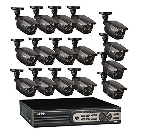 Q-See QT5616-16E2-2 Kanal Real-Time 960H DVR und 16 960H/700 TVL Bullet Kameras mit 2TB HDD