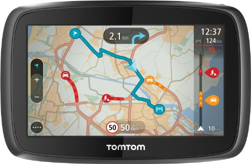 TomTom GO 400 Europe Traffic Navigationssystem (11 cm, (4,3 Zoll) kapazitives Touch Display - Bedienung per Fingergesten, Lifetime TomTom Traffic & Maps) (Tom Tom Lifetime Maps)