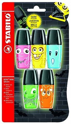 Stabilo Boss Mini Ghosts Surligneur 5 pièces