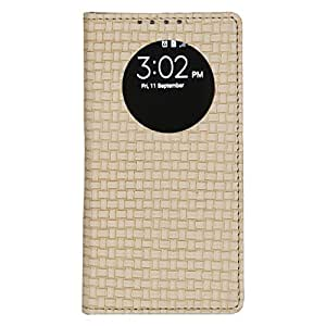 Dsas Artificial Leather Flip Cover with screen Display Cut Outs designed for Sony Xperia M5
