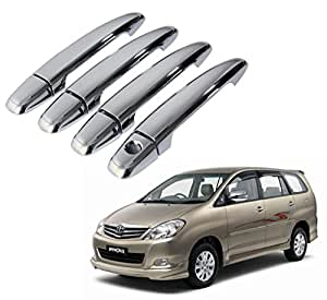 Auto Pearl - Chrome Door Handle Latch Cover - Toyota Innova