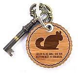 Mr. & Mrs. Panda Rundwelle Schlüsselanhänger Chinchilla - Chinchilla, Chinchillas, Chinchilla brevicaudata, Nagetiere, Nagetier Schlüsselanhänger, Anhänger, Taschenanhänger, Glücksbringer, Schlüsselband