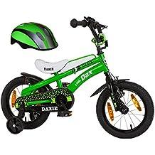 Little di Dax Bicicletta per bambini 14pollici Daxie Verde/Nero con casco 511LD 94
