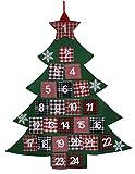 Megashop 2000 Adventskalender Tannenbaum zum Aufhängen und Befüllen