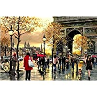 5D Diamond Painting City Street,Diamond Painting Full Drill, Arts and Crafts Home Decor Gift30×40Cm
