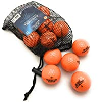 Black Diamond Golf Balls de 12 pack (Color Blanco, Amarillo, Naranja, Rosa), naranja