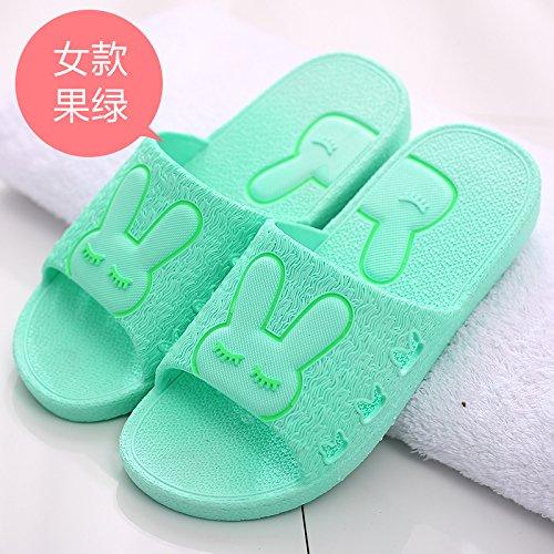 DogHaccd pantofole,Il bagno pantofole femmina estivo anti-slittamento coppie spesso rimanere al coperto di acqua di balneazione morbido e fresco in estate sandali uomini Il verde4