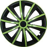 GRAL Grün/Schwarz - 14 Zoll, passend für fast alle Fiat z.B. für Fiat 500
