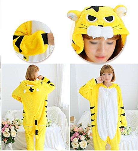 Arkind Unisexe Animaux Pyjama adulte Combinaison Nuit pour Enfant Halloween Cosplay Costume Pyjama Cadeau Anniverssaire Noël tigre