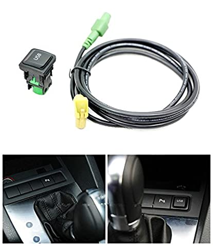 Eximtrade USB Bouton Douille RNS315 RCD510 pour Volkswagen VW MK6 Golf 6 Scirocco Jetta