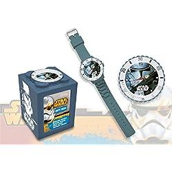 Kids Euroswan - Star Wars SW14042 Stormtrooper Analog Clock 4 in 1 color grey