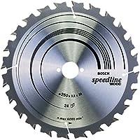 Bosch Pro Kreissägeblatt Speedline Wood zum Sägen in Holz für Tischkreissägen (Ø 250 mm)