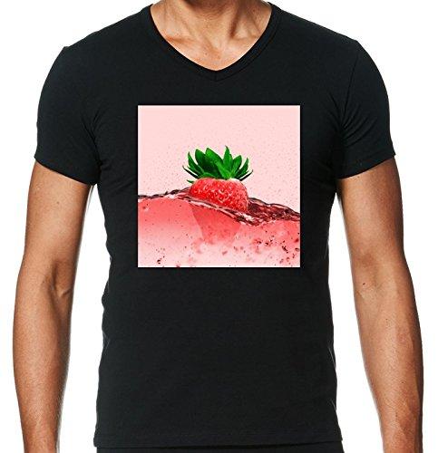 v-ausschnitt-schwarz-herren-t-shirt-grosse-l-erdbeere-essen-by-wonderfuldreampicture