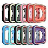 Best Cases  Three - AWINNER Colorful Case for Apple Watch 38mm,Shock-proof Review