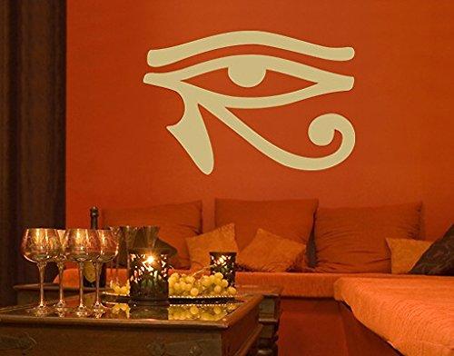 Wandtattoo No.SF553 Horus Auge gypten zeichen schrift horus auge hieroglyphen, Farbe:Flieder;Größe:122cm x 180cm