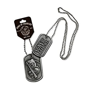 Sons of Anarchy Large Reaper 2-sided Dog Tag collier