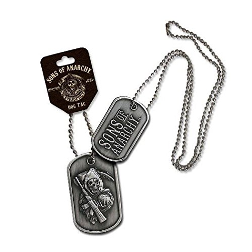Sons of Anarchy collar grande Reaper Dog Tag 2 caras