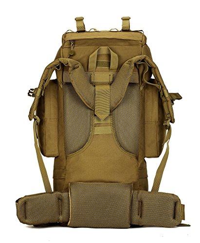 SUNVP 65 L Taktische Military Assault Pack Rucksack Gear Gro?e Sport Outdoor Rucksack Molle Tasche F¨¹r Jagd Camping Trekking Reisen Black