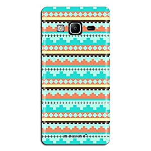 Mozine Blue Tribal Pattern printed mobile back cover for Samsung Z3