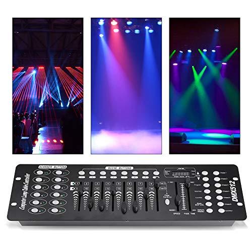 Cocoarm 192 Kanäle DMX 512 Controller zur Professionellen Lichtsteuerung 8 Programmierbare Szenen mit 240 Szenen 6 Chases 8 Fader für Bühne Licht Party DJ Disco