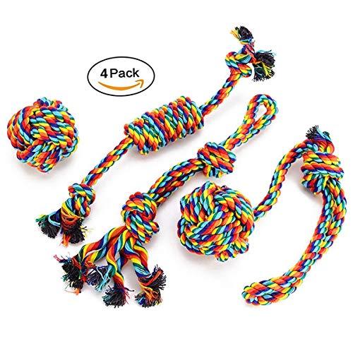 LONSSENS Hundespielzeug Seil,Tau Hund Spielzeug,Hund Seil Spielzeug Set,Interaktives Kauspielzeug Spielzeug,Vorteilhaft für die Zahnreinigung des Hundes,für Welpe Kleine/Mittlere Hunde