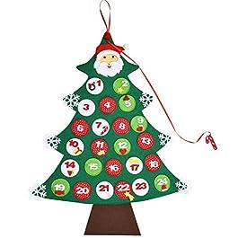 Calendario di Natale Albero Avvento in Tessuto Calendario di Natale Avvento Feltro Conto a Rovescia
