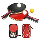 Tencoz Set da Ping-pong, Training Tennis da tavolo Racket Set 2...