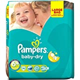 Pampers Baby Dry Taille 6  + Grande Lot 38 couches