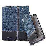 Cadorabo Coque pour Sony Xperia C4 en Bleu FONCÉ Noir - Housse Protection avec Fermoire Magnétique, Stand Horizontal et Fente Carte - Portefeuille Etui Poche Folio Case Cover