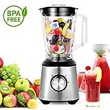 Meykey Smoothie Standmixer, Smoothie Maker, 800w Blender Cup & Grinder Edelstahl Lebensmittel Obst Maker Mixer 1,5 Liter