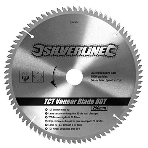 silverline-244964-disco-de-tct-para-madera-contrachapada-80-dientes-250-x-30-anillos-de-25-20-y-16-m