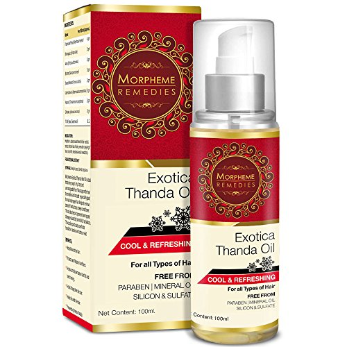 Morpheme Remedies Exotica Thanda Hair Oil - 100ML  available at amazon for Rs.399