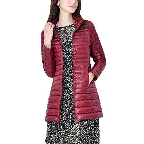 51iNWu7TxCL. SS500  - ZhuiKun Down Jacket Women Long Packable Down Puffer Coat Lightweight Outwear