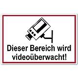 Hinweisschild aus Kunststoff - Dieser Bereich wird videoüberwacht! - 20 x 30 cm