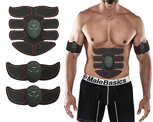 ABS entrenamiento muscular tóner cinturón EMS formación el cuerpo Ultimate ABS estimulador para abdomen/brazo/pierna; Entrenamiento portátil casa/oficina equipo de entrenamiento apoyo Hombres & Mujeres