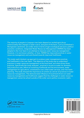 Integrated Water Resources Management, Institutions and Livelihoods under Stress: Bottom-up Perspectives from Zimbabwe; UNESCO-IHE PhD Thesis