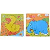 SN Toy Zone Kids Wooden Puzzle(MultiCharacter) Pack of 2