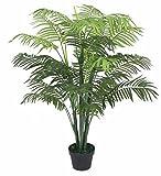 PASAMO 06736 Palme, Echtholzstamm, Kunstpflanze 125cm
