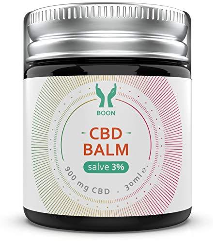 """BOON - CBD Balm""""salve"""" 3% 900mg Hanf-Salbe Creme 100% natürliches Balsam mit kaltgepresstem Hanfsamenöl - 30ml pflanzliche Naturkosmetik"""