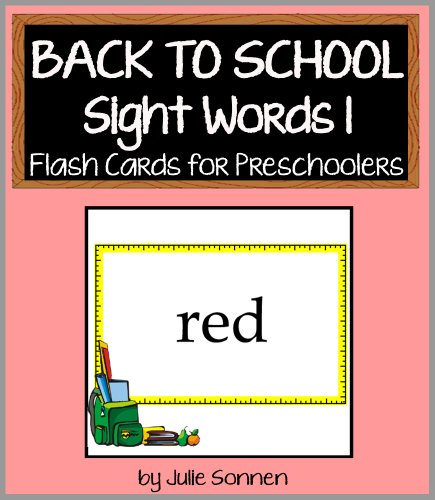 Sonne Reader (Back to School Sight Words 1 - Flash Cards for Preschoolers (Back to School Sight Words for New Readers) (English Edition))