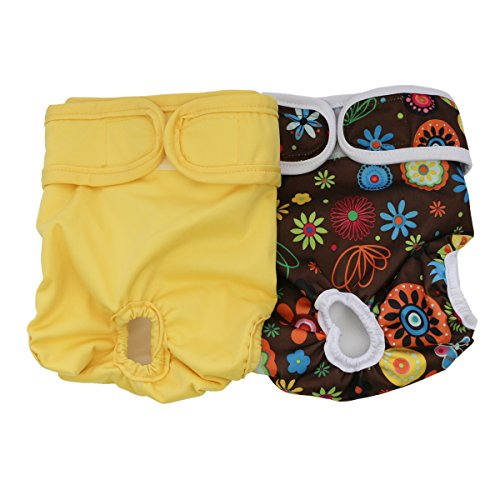 Hisprout - Pañales para perro, reutilizables, lavables, duraderos, pantalones