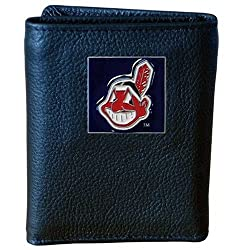 MLB Cleveland Indians Genuine Leather Tri-fold Wallet