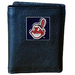 MLB Cleveland Indians Genuine Leather Tri-fold Wallet