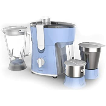 Philips Amaze HL7576/00 600-Watt Juicer Mixer Grinder with 3 Jars (Celestial Blue/Bright White)