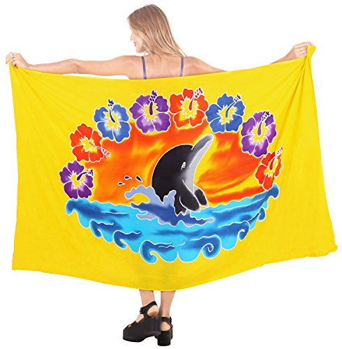 avvolgere gonna pareo beachwear costume da coprire da bagno delle donne di costumi da bagno di usura piscina sarong usura resort costume da bagno Giallo