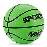 Ballon de basket miniature pouvant être utilisé dans une piscine —Ballon de basket pour l'intérieur mesurant 12,7cm de diamètre —Ballon doux et rebondissant, Green