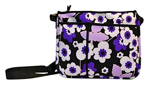 NuPouch Schutzhülle für iPad, Samsung, Fire, PC-Tablets, Violett mit Blumen